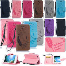 LiBF Embossing PU Leather Case Cover For Apple iPhone 7 6S 6 Plus 5 SE Touch 5th