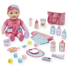 New You & Me Baby and Diaper Bag Play Set - Caucasian Model:23586596