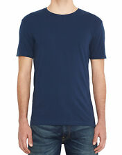 Levi's Men's 2 Pack Slim Fit Crew Neck T-Shirts - Navy and White
