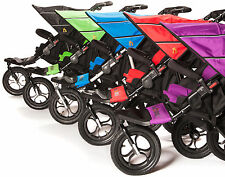 Out 'N' About NIPPER DOUBLE V4 & Rain/Wind Cover Baby Pushchair/Buggy BN