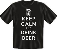 Keep Calm drink Beer - Fun Spruch T-Shirt in den Grössen S-M-L-XL-XXL