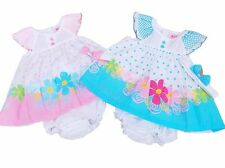 BNWT Baby girl summer smocked dress set Clothes outfit. 6-12m 12-18m 18-24 mths