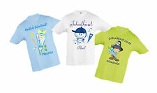 Back to school T-Shirt with Name and Pattern kid bag cone For Boys