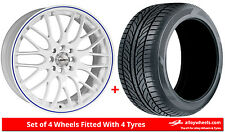 Alloy Wheels & Tyres 15'' Calibre Motion For Daewoo Nubira 98-05