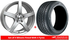 Alloy Wheels & Tyres 15'' Calibre Pace For Daewoo Nubira 98-05
