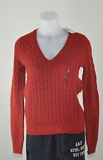 PULL COTON FEMME ROUGE MARQUE POLO RALPH LAUREN 2017 COLV tailles 38, 40