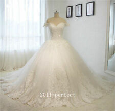 Off Shoulder Appliques Wedding Dresses Formal Bridal Ball Gowns Sweetheart Neck
