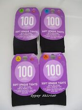 1 PAIR 100 DENIER SOFT OPAQUE TIGHTS  3D LYCRA FOR A PERFECT FIT WITH ALOE VERA