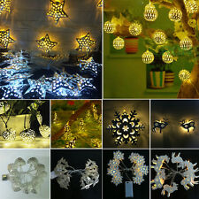10-LED Battery Operated Warm White String Fairy Xmas Wedding Party Decor Lights