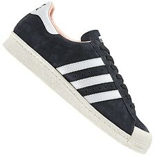 ADIDAS ORIGINALS SUPERSTAR 80s Halfshell SHOES LEATHER TRAINERS BLACK 37 1 3