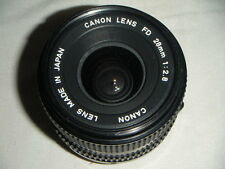 Beautiful Nr MINT Canon FD Mount 28mm f2.8 Wide Angle Prime Lens