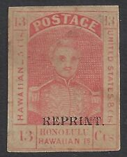 HAWAII #11RS ORANGE RED CLEAR MARGINS ONLY 1,296 ISSUED 1892