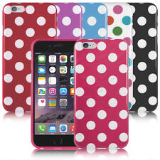 a pois puntini Stampa GOMMA GEL CUSTODIA COVER per iPhone Apple 6S Plus / 6