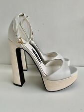 Auth NIB Tom Ford S/S 2016 White Platform Sandals Heels 36 39.5 40 40.5 41 42