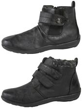 Womens Fleece Lined Ankle Boots Flat Faux Leather Comfort Snow Boots Shoes Size