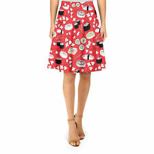 Sushi Cherry Blossom A-Line Skirt Sizes XS-3XL Flared Skirt