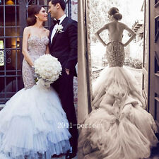 2017 Luxury Beaded Embroidery Wedding Dresses Sweetheart Mermaid Bridal Gowns