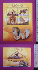 Wild Animal LIONS lions 2014 CONGO perf.Sheetlet CTO stamped Excellent NH uk
