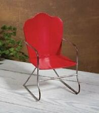 Red Metal Yard Chair Furniture for 18