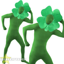 FOUR LEAF CLOVER COSTUME SHAMROCK FANCY DRESS SKIN SUIT ST PATRICKS DAY OUTFIT