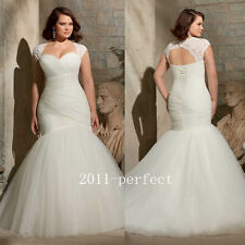 2017 New Wedding Dresses Sexy Mermaid Bridal Gowns With Jacket Plus Size Custom