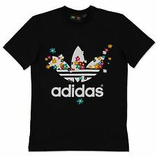 Adidas Originals Adicolor DOODLE Flower Trefoil Tee Pharrell Williams Camiseta