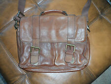 MENS TED BAKER 100% LEATHER SATCHEL / BAG / LAPTOP