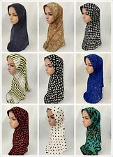 1PCS Muslim Womens Scarf Headwear Islamic Hijab Cap Wrap Shawls Hats Headscarf