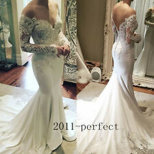2017 Luxury Beaded Top Wedding Dresses Sexy Mermaid V Neck Bridal Gowns Custom