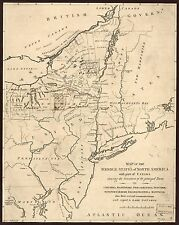 Photo Reprint Antique American Cities Towns States Map Middle