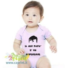 Body Neonato Papa Supereroe