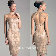 2017 Shiny Rhinestone Mother Of The Bride Dresses Prom Knee Length Gowns Custom