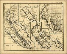 Photo Reprint Antique American Cities Towns States Map California