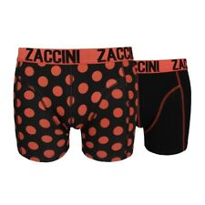 ZACCINI Herren Boxershorts 2-er Pack - Royal Dots Burnt Orange schwarz/ rot