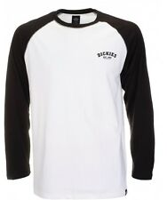 Dickies Baseball regular fit manica lunga Raglan T-shirt Tee Nero Bianco Black