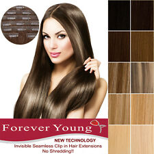 Invisible Seamless Lace Weft Clip in Remy Human Hair Extensions Forever Young