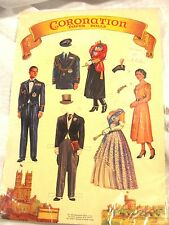 Embossed Merrimack Paper Doll Sheet Coronation Queen Elizabeth 1985 MINT NEW