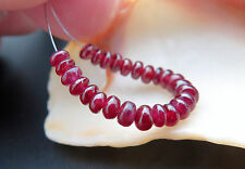 STUNNING NATURAL DEEP GEM RED AAA++ AFRICAN RUBY BEADS 2.00 inches 6.80cts
