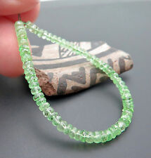 68 GORGEOUS AAA+ GEM GRADE MINT GREEN TSAVORITE GARNET FACETED BEADS 5.20