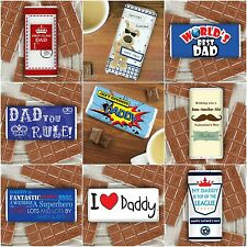 Personalised Chocolate For Men Dads Father's Day Daddy Grandad Gift Present Idea