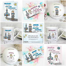Personalised Bang On The Door First 1st Holy Communion Cards & Gifts Any Name
