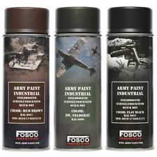 VERNICE SPRAY  COLORE BLACK HIGH GLOSS LUCIDO  MILITARE 400 ML FOSCO