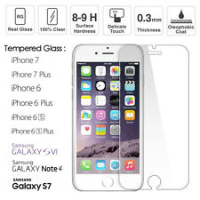TEMPERED GLASS FILM SCREEN PROTECTOR for iPhone 7/7+/6/6+ Samsung S6/Note4/S7(G)
