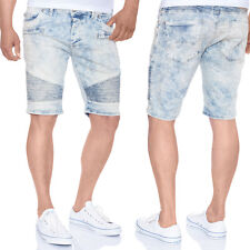 RED BRIDGE Herren Jeansshorts M-4824 Used Look mit Farbspritzern