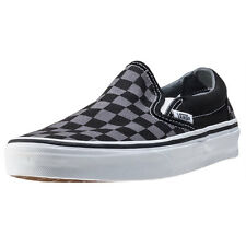 Vans Classic Slip-on Check Mens Slip On Black Grey New Shoes
