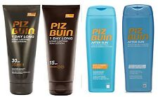 Piz Buin 1 Day Long Suntan Lotion SPF 15 or 30 or Aftersun 200ml each - choose 1