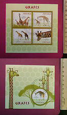 Wild Animal GIRAFFES 2015 perf. Sheetlet CTO stamped Excellent NH UK