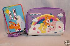 NEW WITH TAG CARE BEARS PURPLE  COIN AND ID WALLET