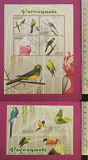 Wild Animal Parrots 2014 Congo perf Sheetlet CTO stamped Excellent NH UK