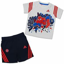 ADIDAS + MARVEL BABY KINDER SOMMER SET ANZUG SPIDERMAN HOSE + TSHIRT SPINNE